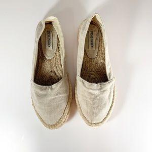 Steve Madden flat espadrilles beige size 9